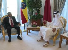 الشيخ تميم يبحث مع آبي أحمد ملفات اقتصادية وقضايا إقليمية