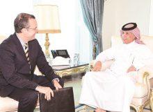 محمد بن عبدالرحمن يتلقى رسالة خطية من وزير خارجية البرازيل