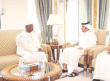 صاحب السمو يتلقى رسالة خطية من رئيس غينيا